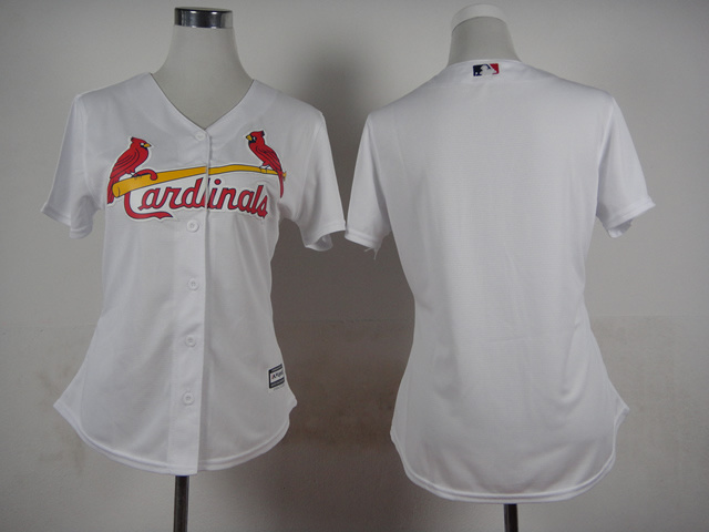 Womens MLB St. Louis Cardinals Blank White 2015 Jerseys