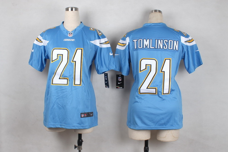 Womens San Diego Chargers 21 Tomlinson Light Blue 2015 Nike Jerseys