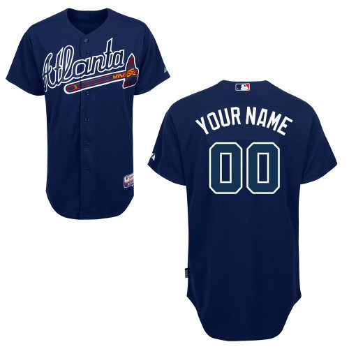 NFL MLB Customize Atlanta Braves blue Jerseys