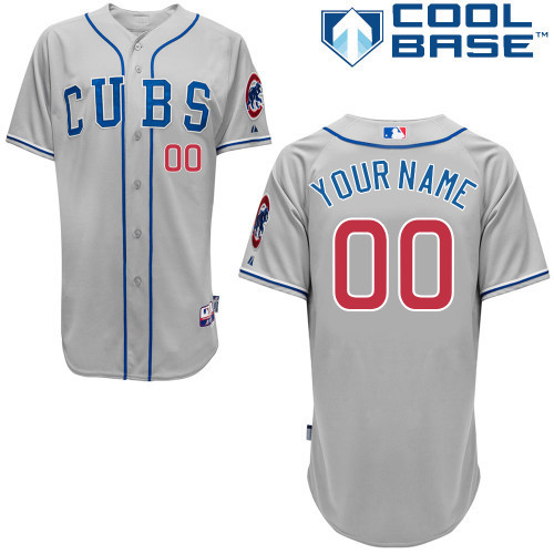 NFL MLB Customize Chicago Cubs Grey Jerseys
