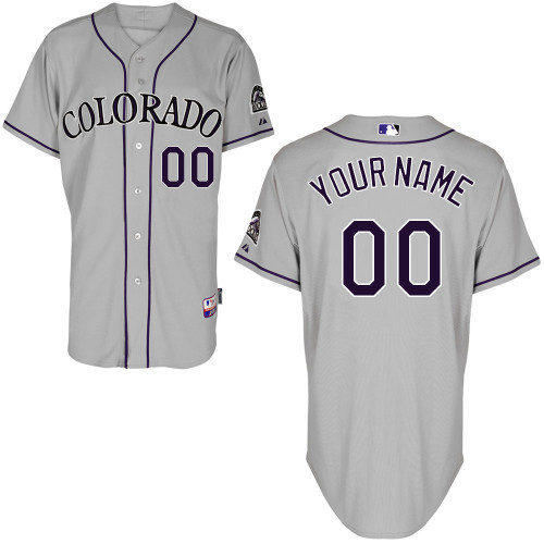 NFL MLB Customize Colorado Rockies grey Jerseys