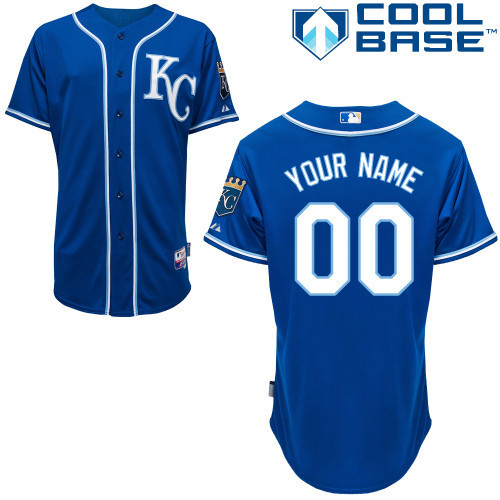 MLB Customize Kansas City Royals blue Jerseys