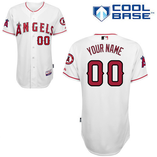 MLB Customize Los Angeles Angels White Jerseys