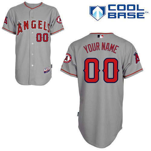 MLB Customize Los Angeles Angels grey Jerseys