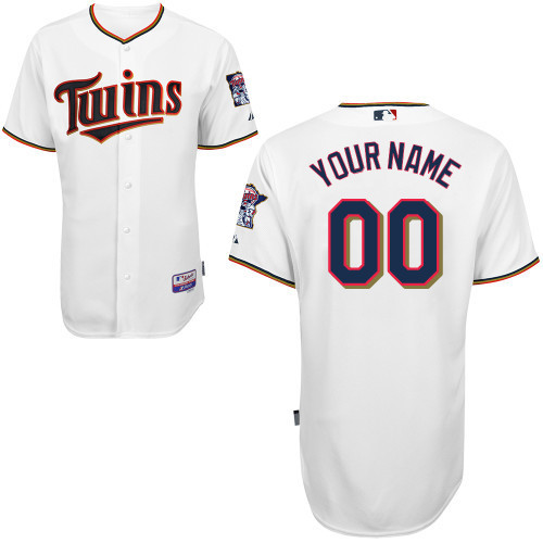 MLB Customize Minnesota Twins White Jerseys