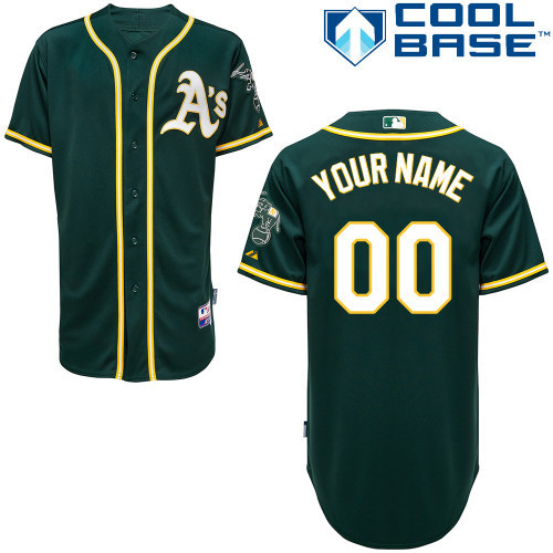 MLB Customize Oakland Athletics Green Jerseys