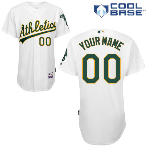 MLB Customize Oakland Athletics White Jerseys