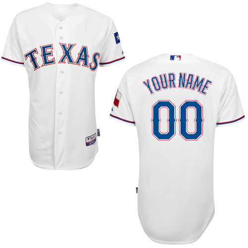 MLB Customize Texas Rangers White Jerseys