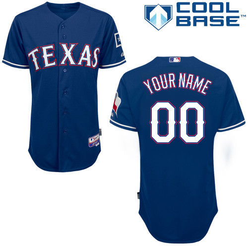 MLB Customize Texas Rangers blue Jerseys