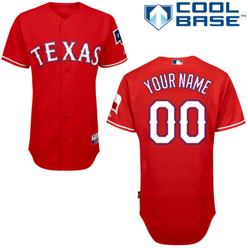 MLB Customize Texas Rangers red Jerseys.