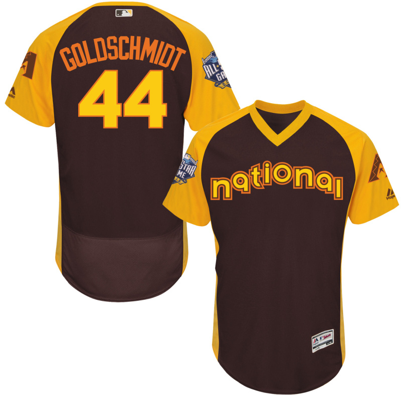 2016 MLB All Star Arizona Diamondbacks 44 Goldschmidt brown Jerseys