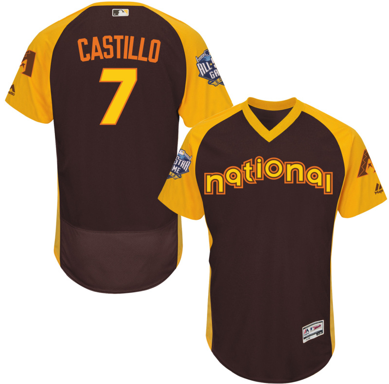 2016 MLB All Star Arizona Diamondbacks 7 Castillo brown Jerseys