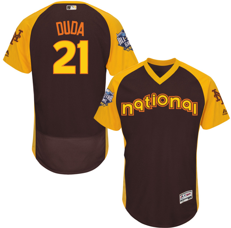 2016 MLB All Star New York Mets 21 Duda brown Jerseys