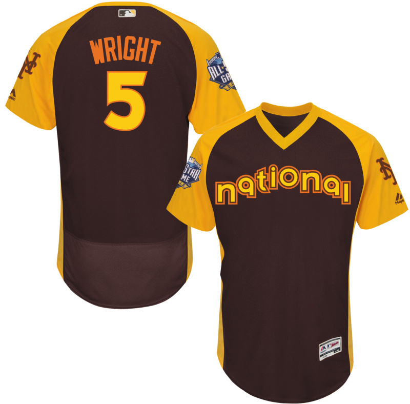 2016 MLB All Star New York Mets 5 Wright brown Jerseys