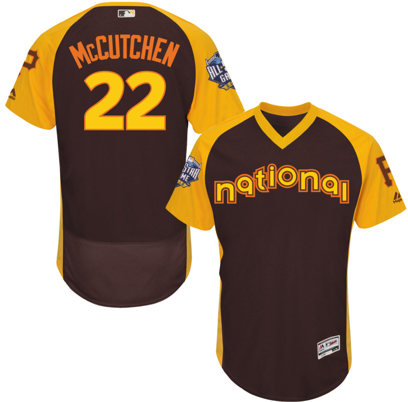 2016 MLB All Star Pittsburgh Pirates 22 Mccutchen brown Jerseys