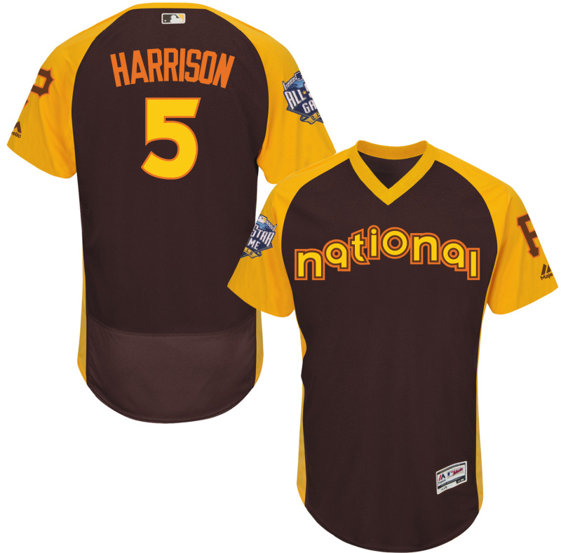 2016 MLB All Star Pittsburgh Pirates 5 Harrison brown Jerseys