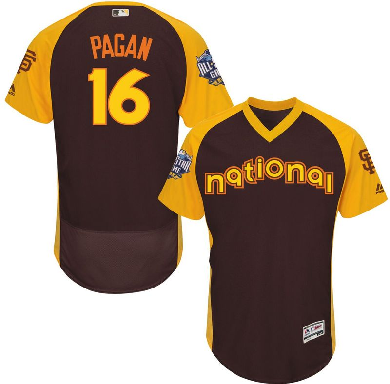 2016 MLB All Star San Francisco Giants 16 Pagan brown Jerseys
