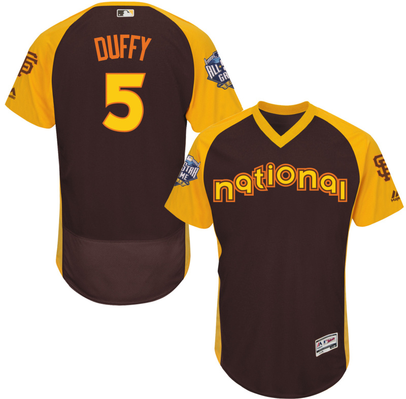2016 MLB All Star San Francisco Giants 5 Duffy brown Jerseys
