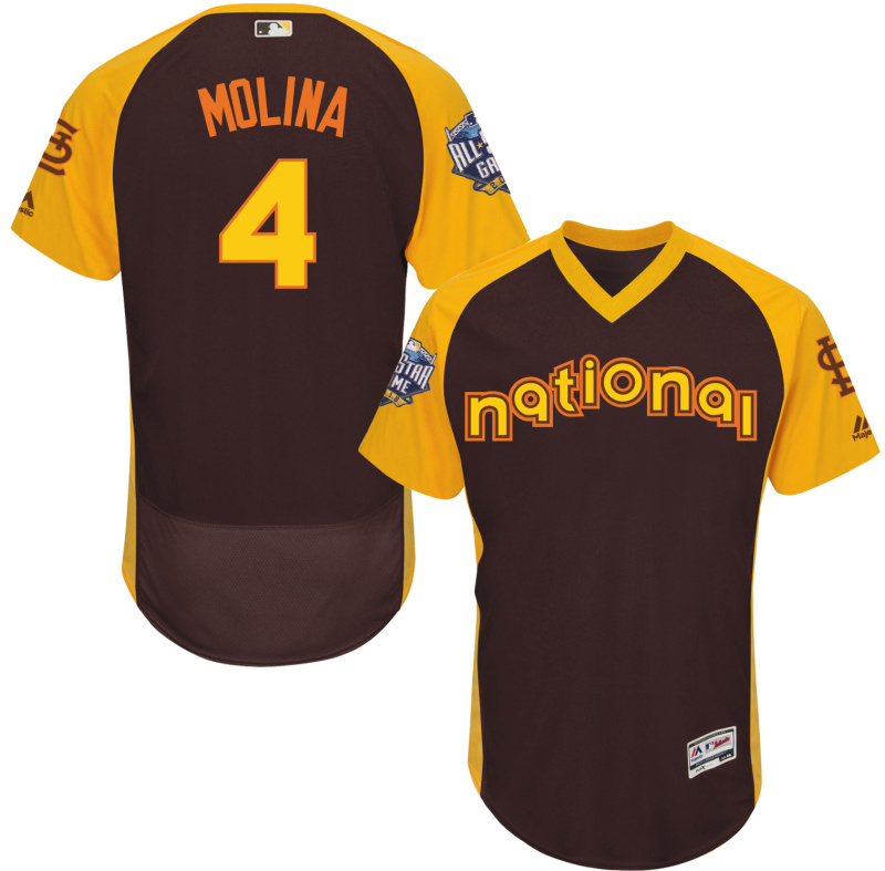 2016 MLB All Star St. Louis Cardinals 4 Molina brown Jerseys