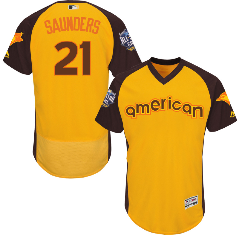 2016 MLB All Star Toronto Blue Jays 21 Saunders Yellow Jerseys