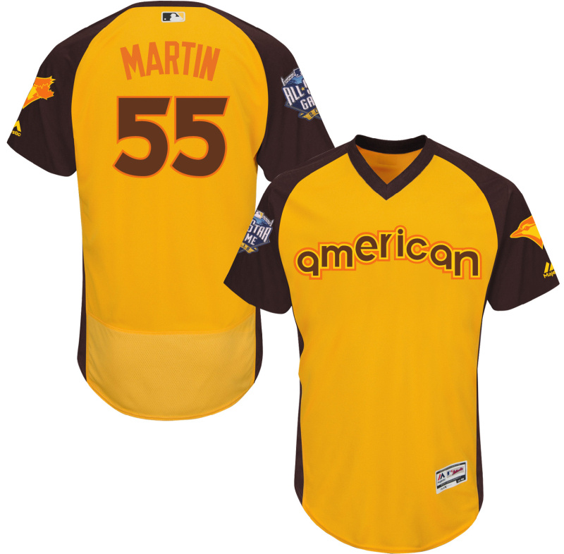 2016 MLB All Star Toronto Blue Jays 55 Mattin Yellow Jerseys