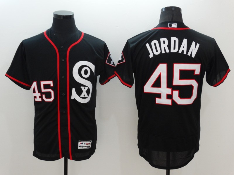 2016 MLB Chicago White Sox 45 Jordan Black Elite Fashion Jerseys