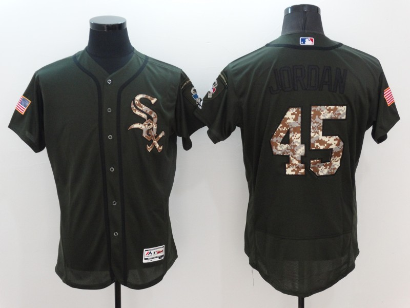 2016 MLB Chicago White Sox 45 Jordan Green Salute to Service Stitched Baseball Jersey
