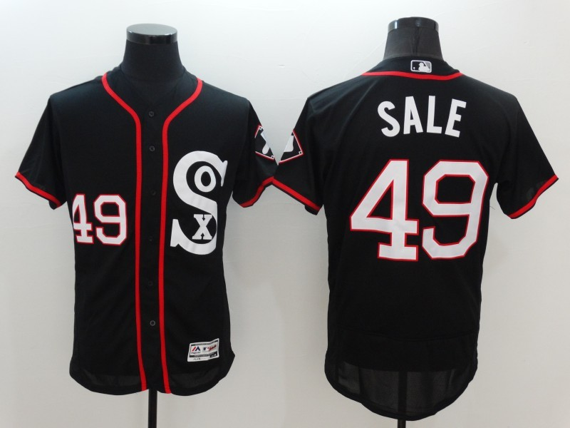 2016 MLB Chicago White Sox 49 Sale Black Elite Fashion Jerseys