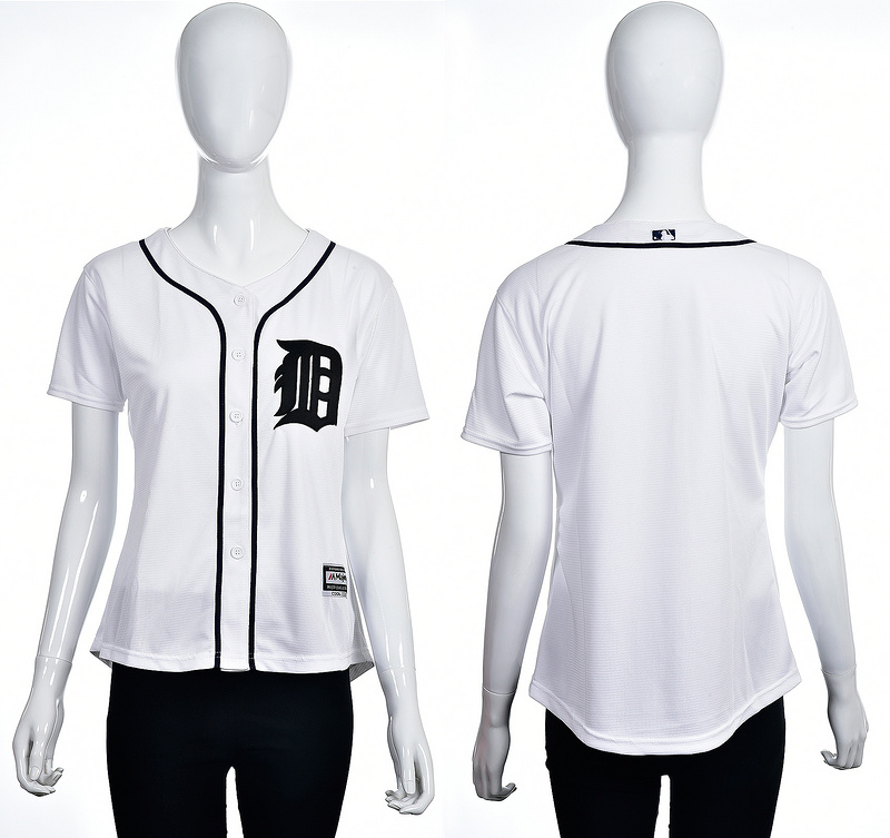2016 MLB Detroit Tigers Blank white women jerseys