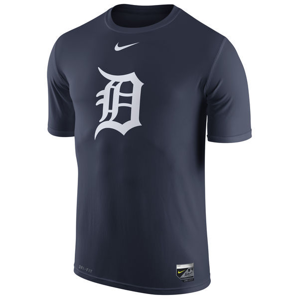 2016 MLB Detroit Tigers Nike Authentic Collection Legend Logo 1.5 Performance T-Shirt - Navy