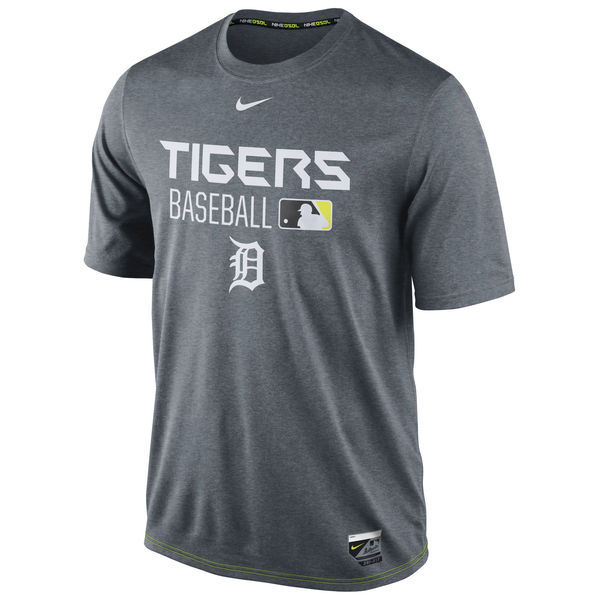 2016 MLB Detroit Tigers Nike Legend Team Issue Performance T-Shirt - Charcoal