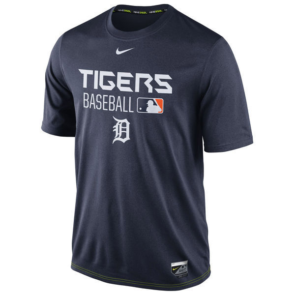 2016 MLB Detroit Tigers Nike Legend Team Issue Performance T-Shirt - Navy
