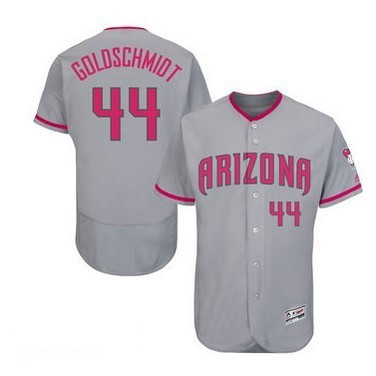 2016 MLB FLEXBASE Arizona Diamondback 44 Goldschmidt grey mother's day jerseys