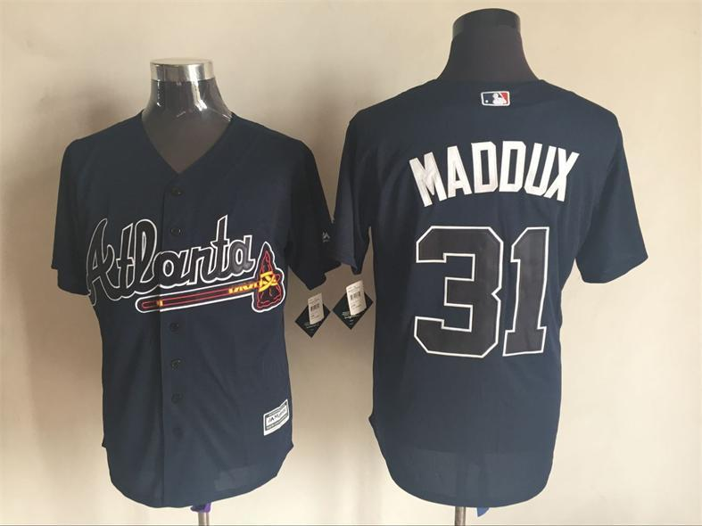 2016 MLB FLEXBASE Atlanta Braves 31 Maddux blue jerseys