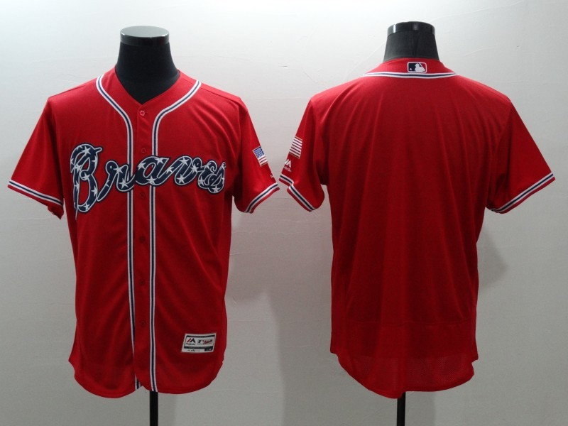 2016 MLB FLEXBASE Atlanta Braves blank red jerseys