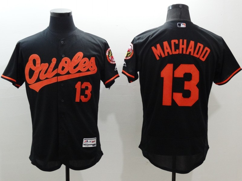 2016 MLB FLEXBASE Baltimore Orioles 13 Machado black jerseys
