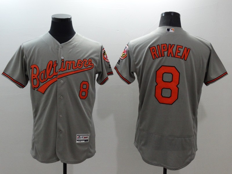 2016 MLB FLEXBASE Baltimore Orioles 8 Ripken grey jerseys
