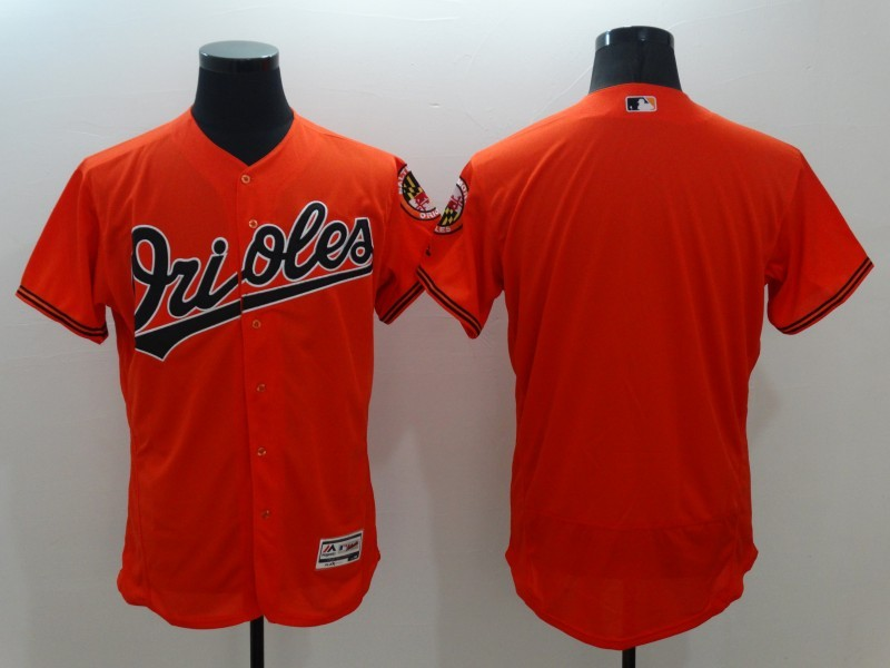 2016 MLB FLEXBASE Baltimore Orioles Blank Orange Jersey