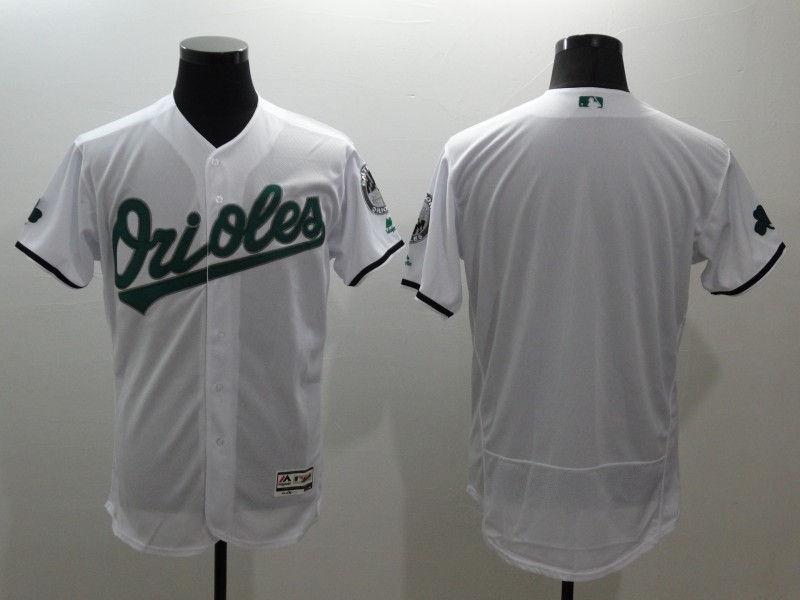 2016 MLB FLEXBASE Baltimore Orioles blank white jerseys 2