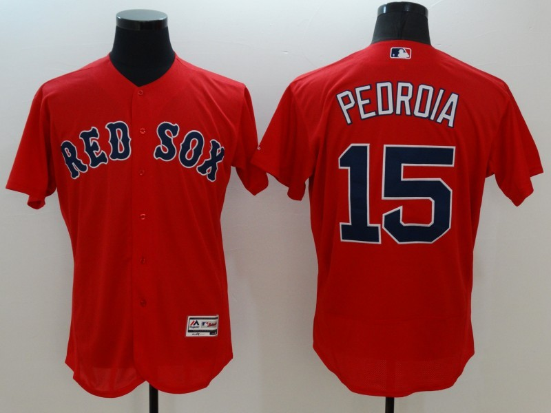 2016 MLB FLEXBASE Boston Red Sox 15 Pedroia red jerseys