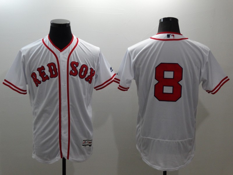 2016 MLB FLEXBASE Boston Red Sox 8 Carl Yastrzemski white jerseys