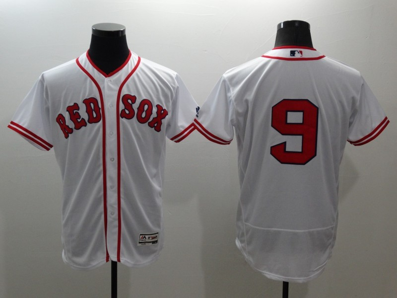 2016 MLB FLEXBASE Boston Red Sox 9 Ted Williams white jerseys