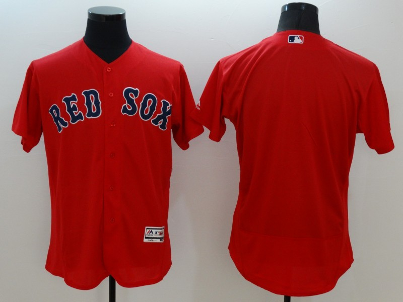 2016 MLB FLEXBASE Boston Red Sox blank red jerseys