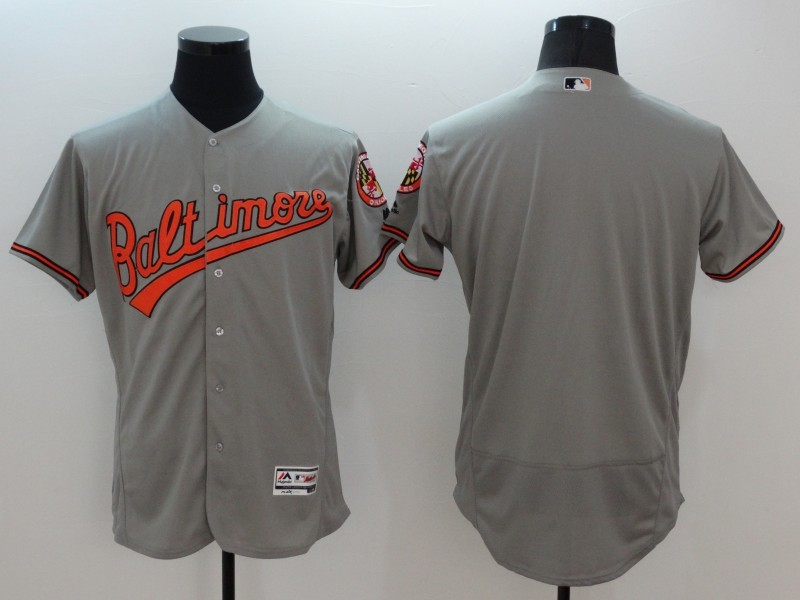 2016 MLB FLEXBASE Chicago Baltimore Orioles blank grey jerseys