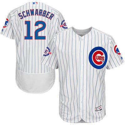 2016 MLB FLEXBASE Chicago Cubs 12 Schwarber white 100th jerseys