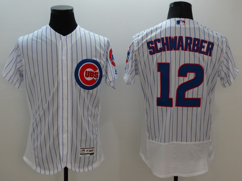 2016 MLB FLEXBASE Chicago Cubs 12 Schwarber white jerseys