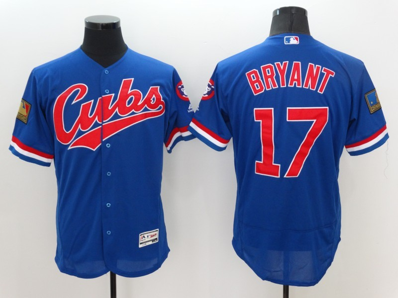 2016 MLB FLEXBASE Chicago Cubs 17 Bryant Blue Jerseys