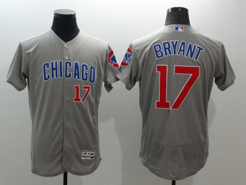 2016 MLB FLEXBASE Chicago Cubs 17 Bryant Grey Jerseys