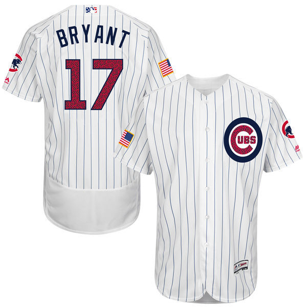 2016 MLB FLEXBASE Chicago Cubs 17 Bryant White Fashion Jerseys