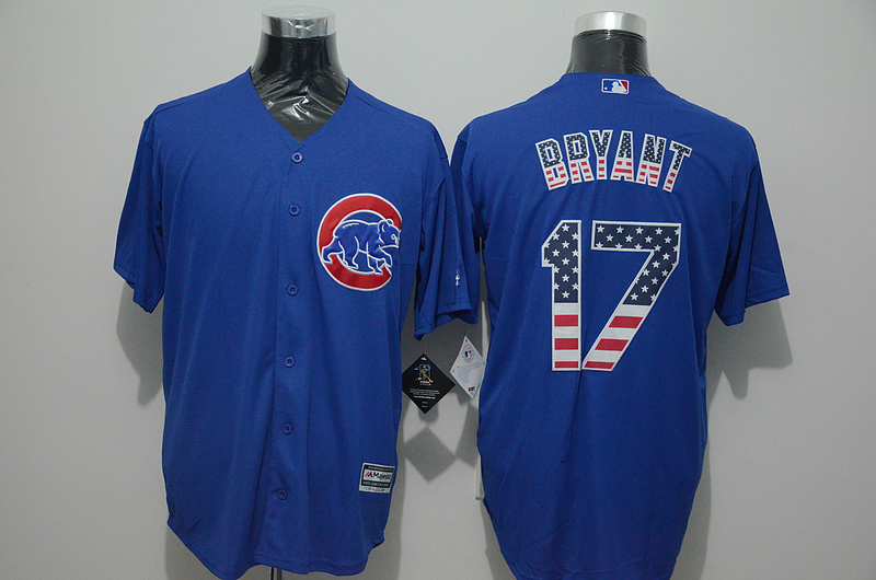 2016 MLB FLEXBASE Chicago Cubs 17 Bryant blue jersey